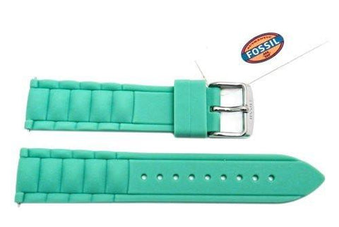 Fossil Mint Silicone Link Style 20mm Watch Band
