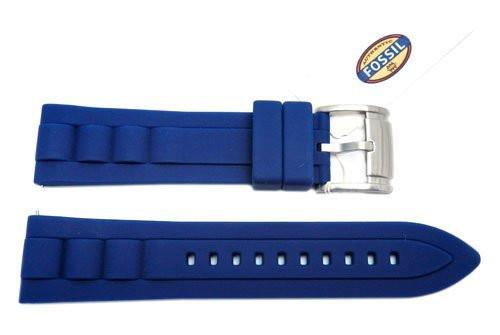 Fossil Blue Silicone 22mm Watch Strap