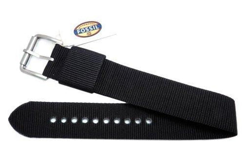 Fossil Defender Series Black Nylon 20mm Watch Strap