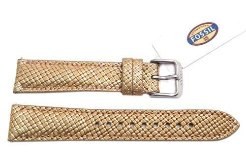 Fossil Rose Gold Soft Embossed Genuine Leather 18mm Watch Strap
