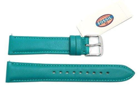 Fossil Turquoise Genuine Leather 18mm Watch Strap
