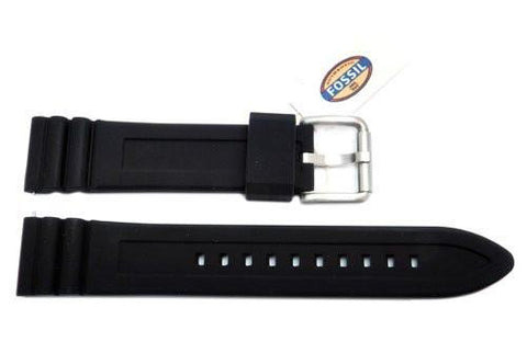 Fossil Defender Series Black Silicone 20mm Watch Strap