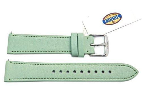 Fossil Mint Genuine Leather 18mm Watch Strap