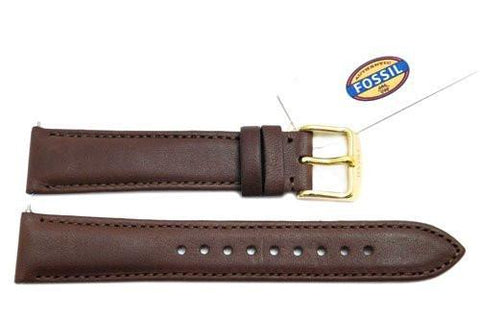 Fossil Brown Genuine Leather 18mm Watch Strap