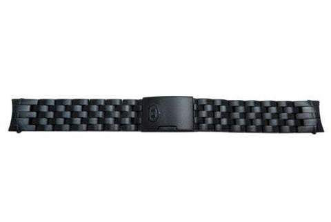 Fossil Defender Series Black Tone 20mm Push Button Clasp Watch Bracelet