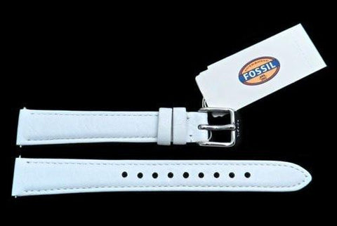 Fossil White Genuine Leather 14mm Watch Strap