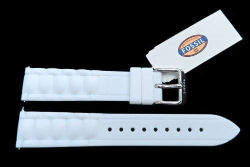 Fossil White Silicone Link Style 18mm Watch Band