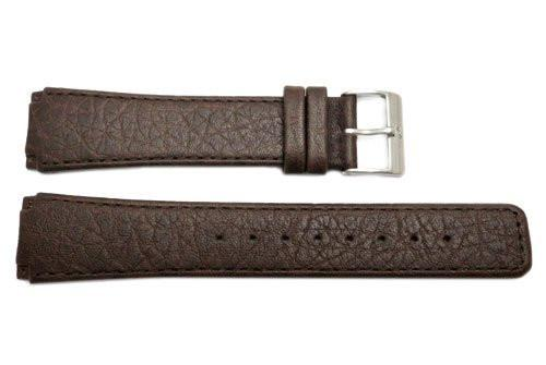 Genuine Skagen Dark Brown Textured Leather 22mm Watch Strap - Screws