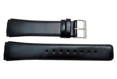 Genuine Skagen Black Smooth Leather 22mm Watch Strap - Screws