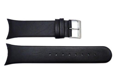 Genuine Skagen Black Genuine Leather 25mm Watch Strap - Screws