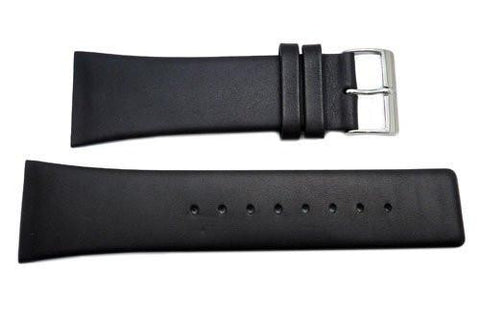 Genuine Skagen Black Genuine Leather 28mm Watch Strap - Screws