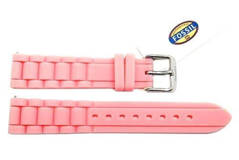 Fossil Light Pink Silicone Link Style 18mm Watch Band