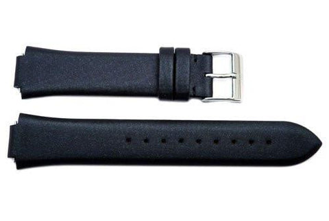 Genuine Swiss Army Ladies Black Victoria Series 16/10mm Fabric and Leather Watch Strap