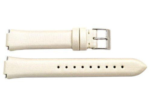 Genuine Swiss Army Ladies Beige Victoria Series 20/11mm Fabric and Leather Watch Strap