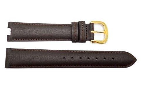Genuine Coach Dark Mahogany Smooth Leather 16/6mm Watch Band
