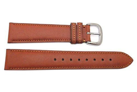 Genuine Coach Brown Smooth Leather 19mm Watch Band