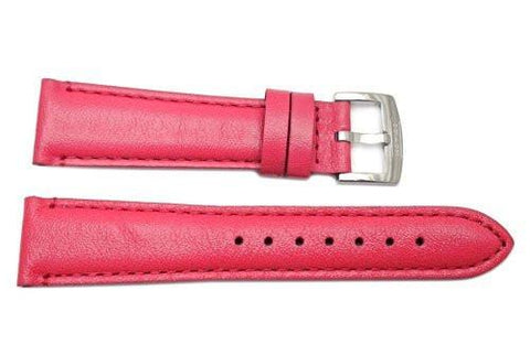 Genuine Coach Pink Smooth Leather 19mm Watch Band