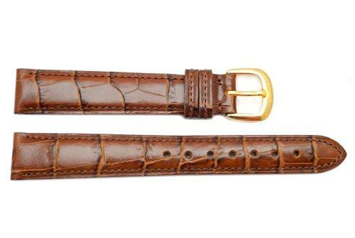 Genuine Coach Brown Crocodile Grain Leather 14mm Watch Strap