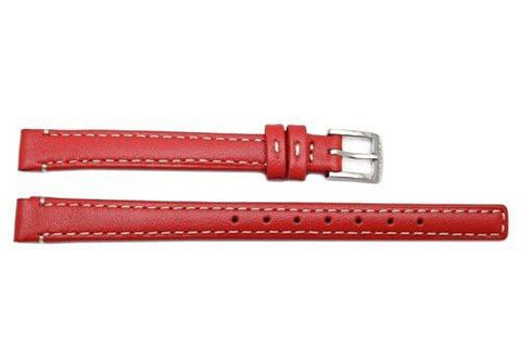 Genuine Coach Red Smooth Leather 9mm Watch Band