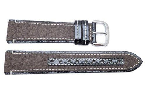 Genuine Coach Dark Brown Smooth Leather 20mm Monogram Watch Band