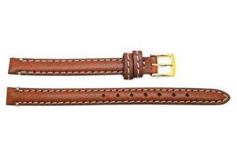 Genuine Coach Brown 9mm Leather Watch Band