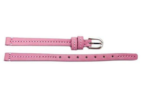 Genuine Coach Pink 7mm Leather Watch Band