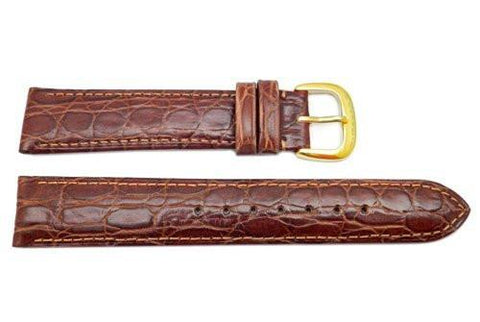 Genuine Coach Brown Crocodile Grain Leather 18mm Watch Strap