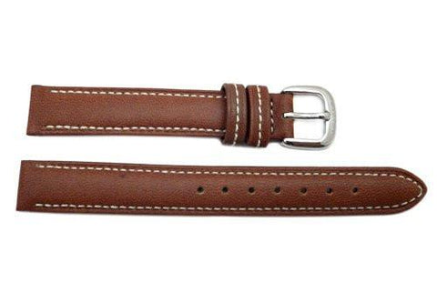 Genuine Coach Brown Leather 13mm Watch Strap