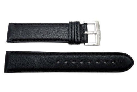 Genuine Coach Black Smooth Leather 19mm Watch Band