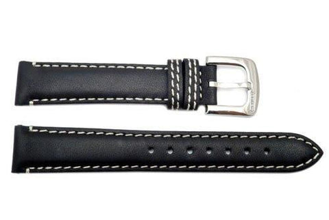 Genuine Coach Black Smooth Leather 16mm Watch Band