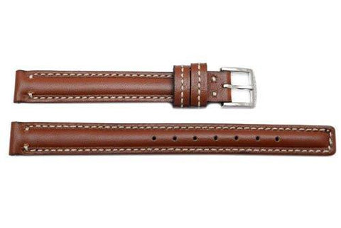 Genuine Coach Brown 10.5mm Leather Watch Band