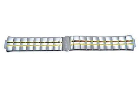 Genuine Seiko Dual Tone Stainless Steel 22mm Watch Bracelet