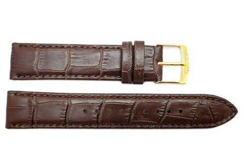 Seiko Burgundy Genuine Calfskin Textured 19mm Leather Watch Band