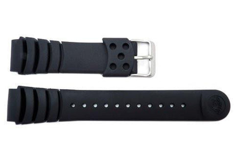 Seiko Genuine Black Rubber Diver's 20mm Watch Band