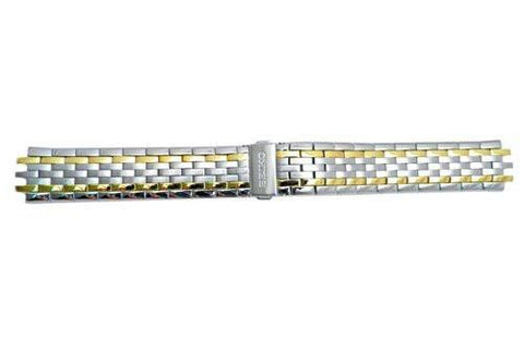 Seiko Dual Tone Push Button Fold Over Clasp 20mm Watch Bracelet