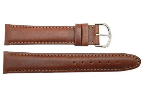 Seiko Brown Genuine Leather 20mm Long Watch Strap