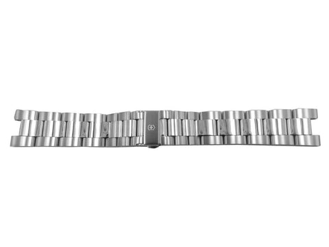 Swiss Army Victorinox 21 x 9mm Night Vision Stainless Steel Bracelet with Clasp