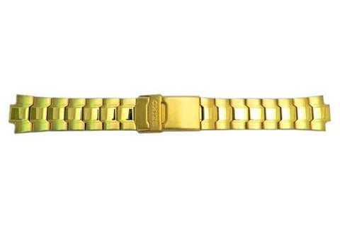 Seiko Gold Tone Fold Over Clasp With Safety 20mm Watch Bracelet