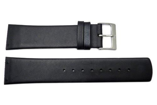 Genuine Skagen Black Genuine Single Ply Leather 22mm Watch Strap - Screws