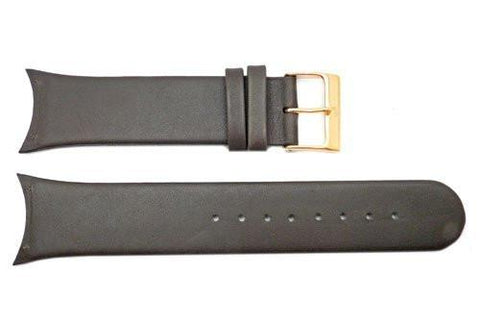 Genuine Skagen Dark Brown Genuine Leather 25mm Watch Strap - Screws