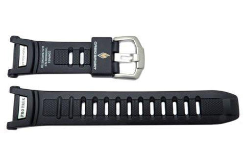 Genuine Casio Sport Protrek Tough Solar Black Resin 25.5/16mm Watch Strap
