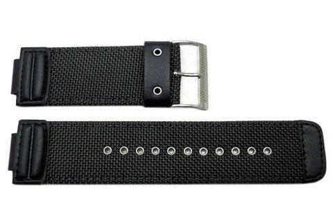 Genuine Casio Black Nylon 29/16mm Watch Strap