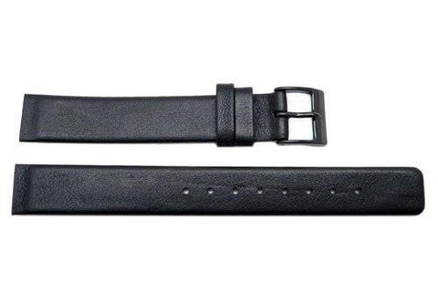 Genuine Skagen Ladies Black Smooth Leather 14mm Watch Strap - Screws