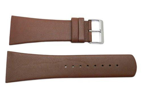 Genuine Skagen Brown Genuine Leather 30mm Watch Strap - Screws