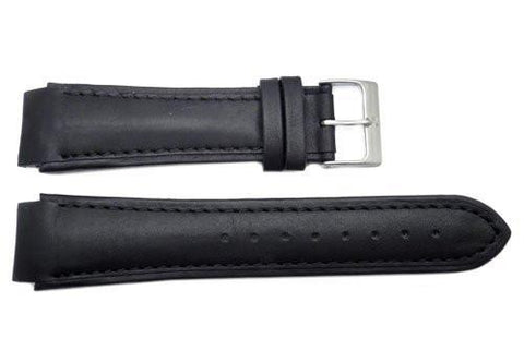 Genuine Skagen Black Genuine Leather Watch Strap - Pins
