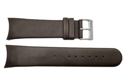 Genuine Skagen Dark Brown Genuine Leather 24mm Watch Strap - Screws