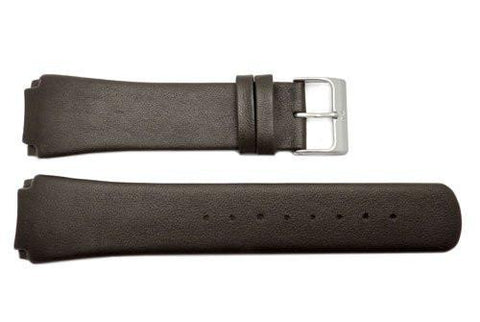 Genuine Skagen Dark Brown Smooth Leather 23mm Watch Strap - Screws