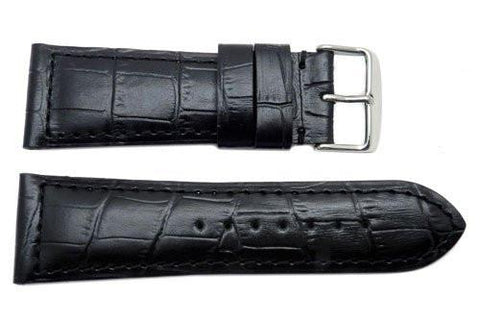 North American Alligator Grain Semi Glossy Watch Strap