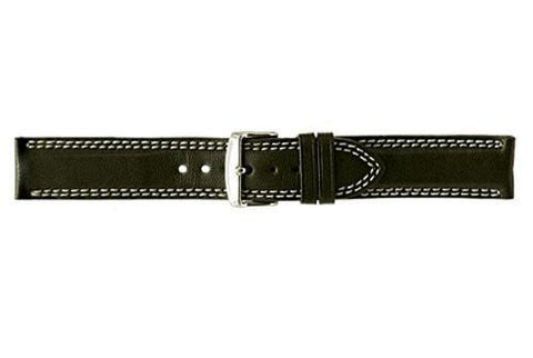 Hadley Roma Black Sport Leather Calfskin Watch Strap