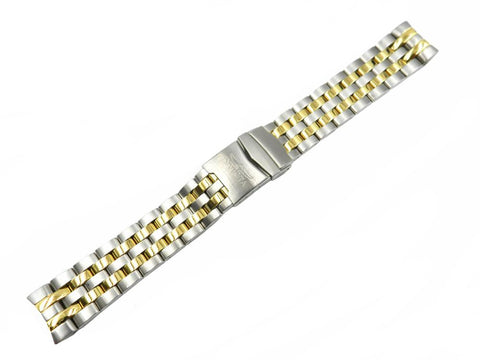 Genuine Invicta Men's Dual Tone Stainless Steel 22mm Watch Band